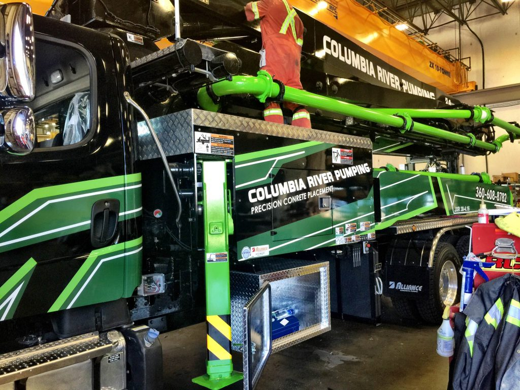 Columbia Rivers concrete pump wrap